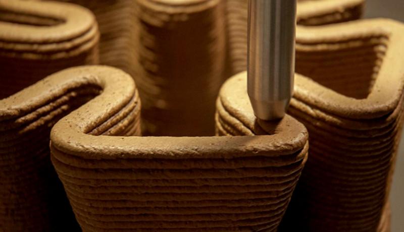 Pylos: Construyendo con Impresión 3D con tierra